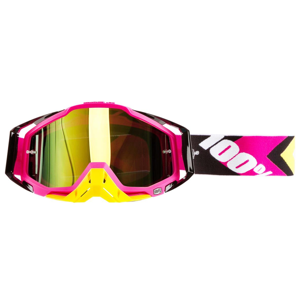 100% Crossbrille The Racecraft Hyperion Magenta - Gold verspiegelt
