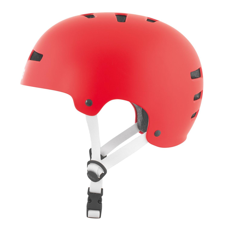 TSG BMX Dirt Helm Evolution Evolution Evolution Solid Farbe - Satin Fire rot 3504c1