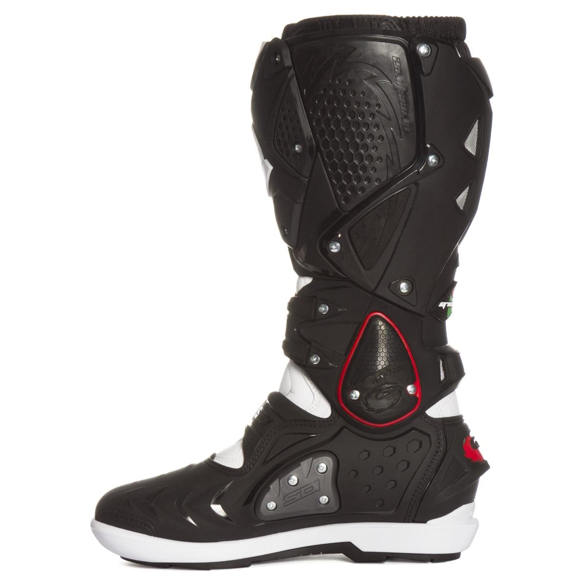 sidi mx boots crossfire 2 srs black white 2019 maciag offroad. Black Bedroom Furniture Sets. Home Design Ideas