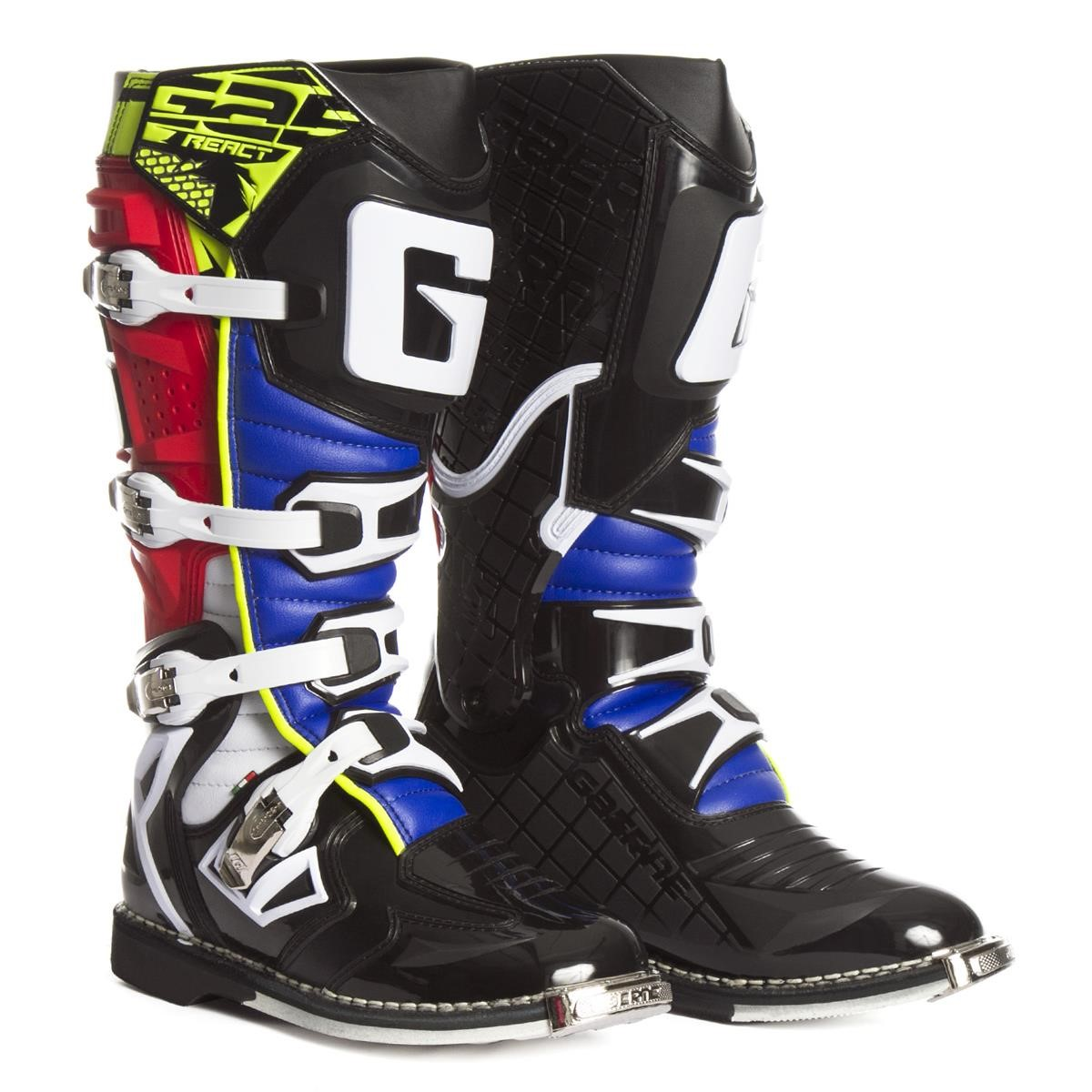 G Gaerne MX React Goodyear RedYellow Boots 5Rq4AjL3