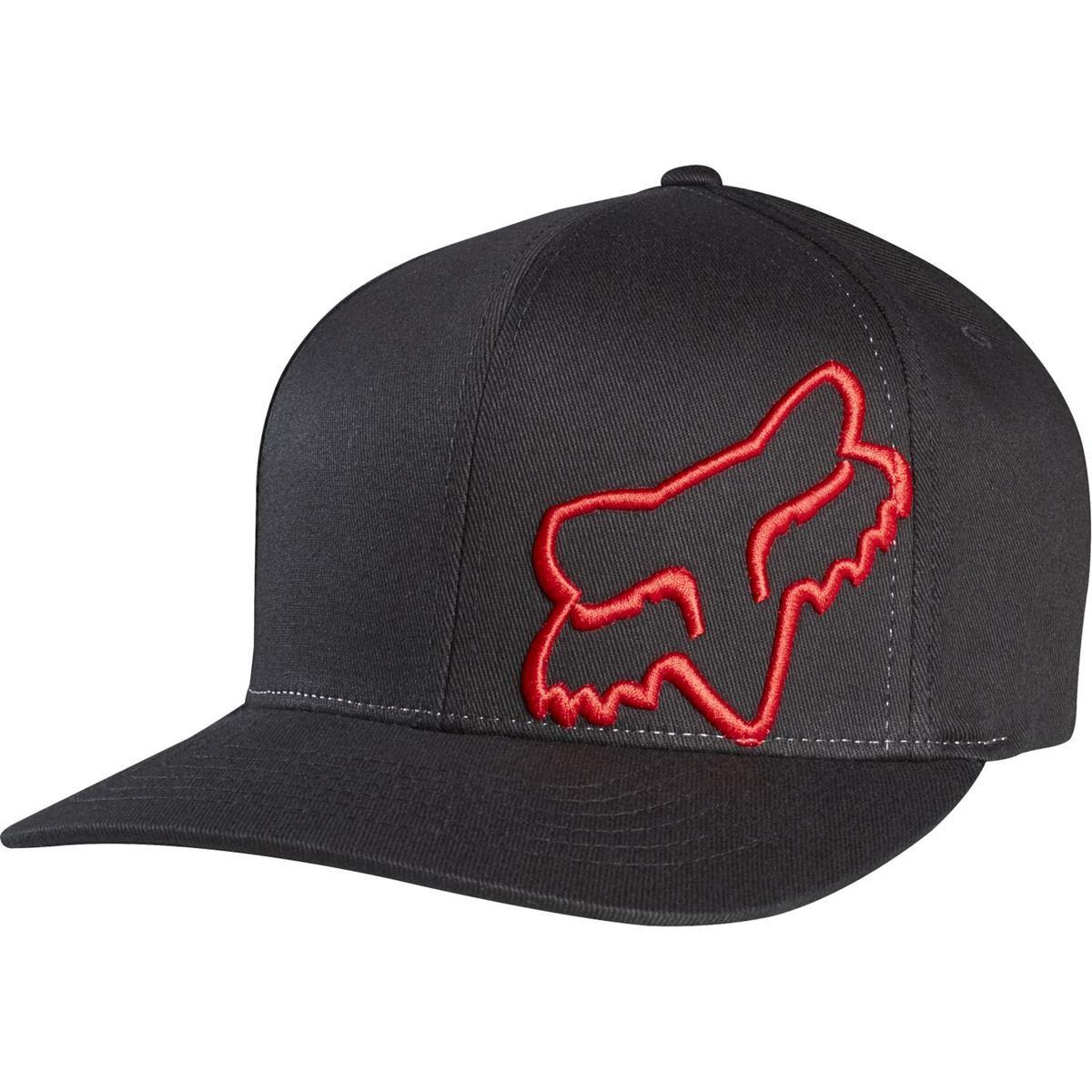 Fox Flexfit Hats >> Fox Flexfit Cap Flex 45 Black/Red   Maciag Offroad