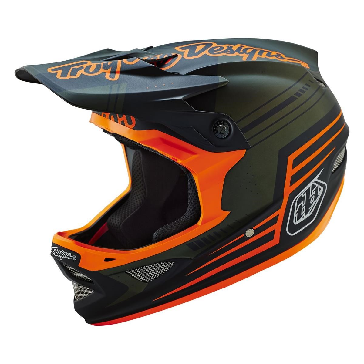 troy lee designs downhill helmet d3 berzerk army green. Black Bedroom Furniture Sets. Home Design Ideas