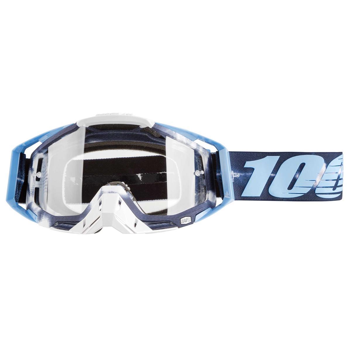 100% Crossbrille The Racecraft Tiedye - Klar Anti-Fog