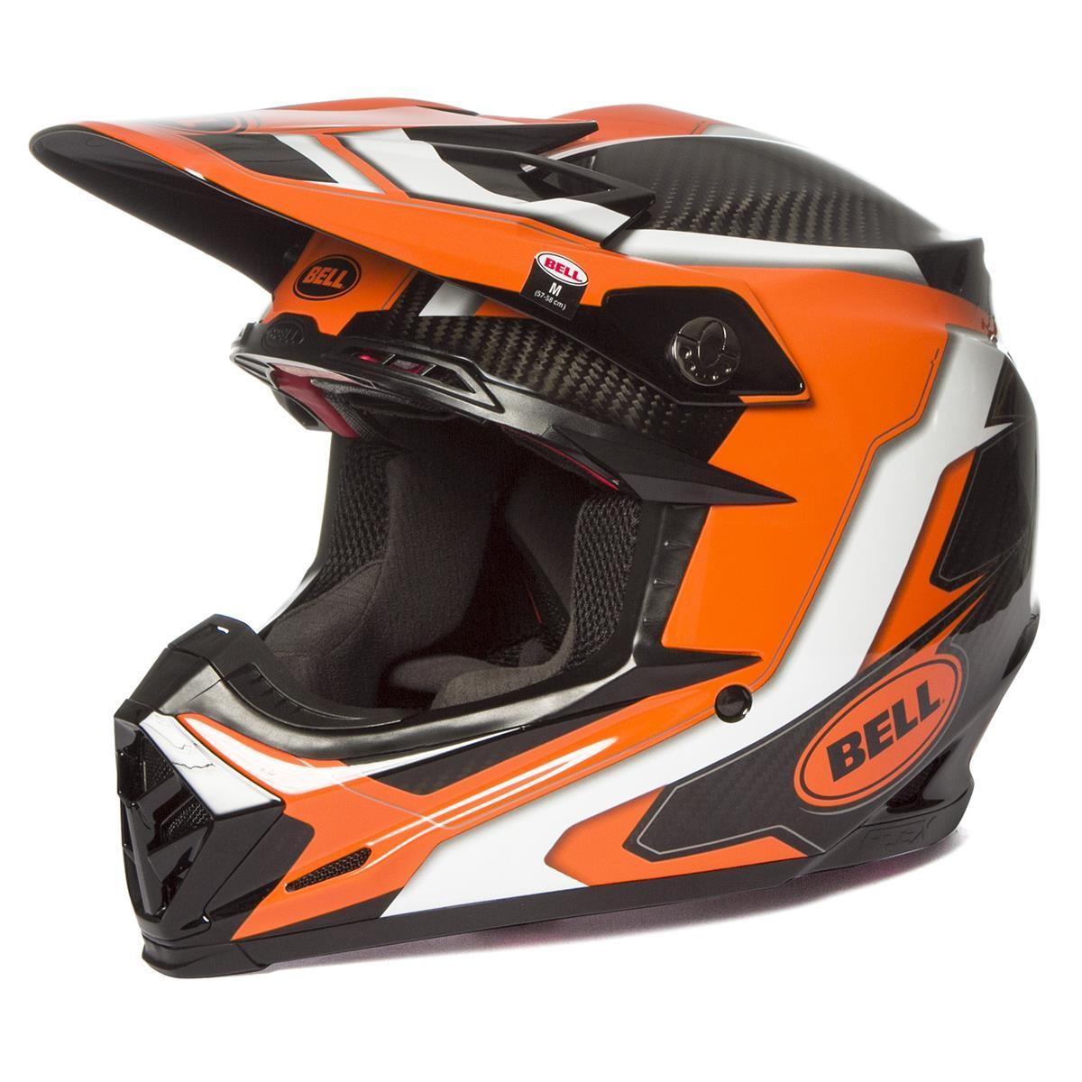 Bell Moto-9 Flex Visor Factory Orange//Black