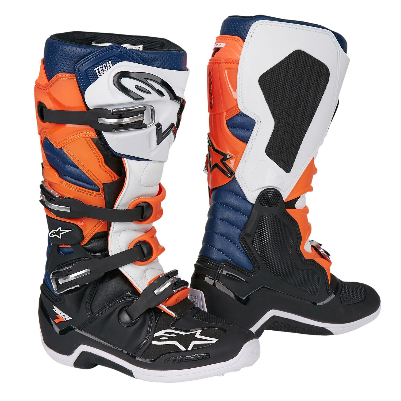 Alpinestars MX Boots Tech 7 Black Orange White Blue 2019  fbb8e62e05866