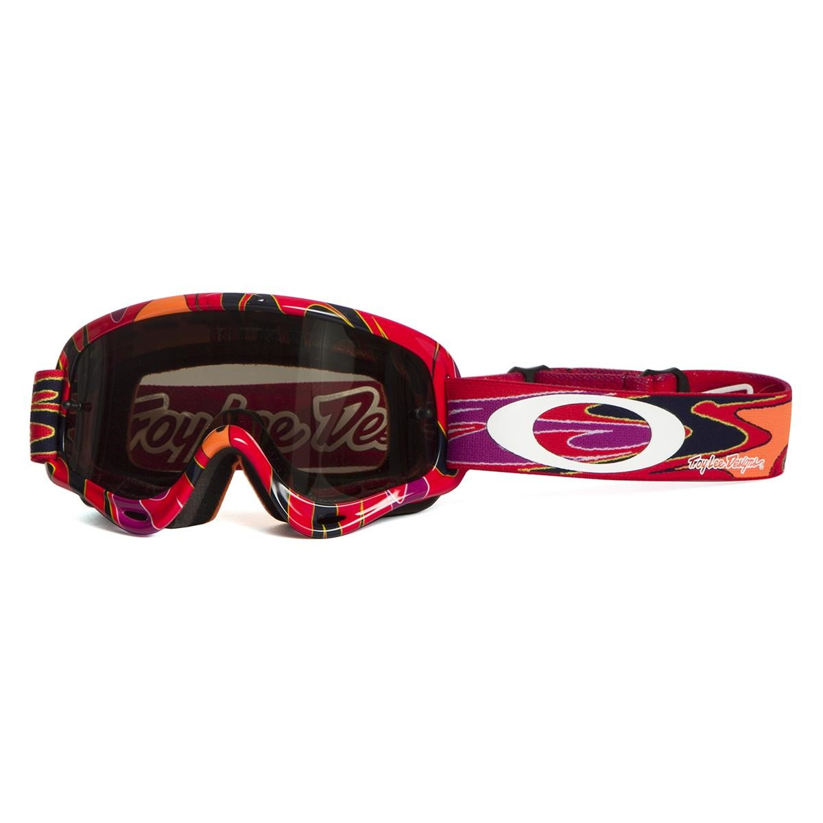 oakley kids goggle xs o frame troy lee designs reflection orange purple dark grey 2017 maciag offroad
