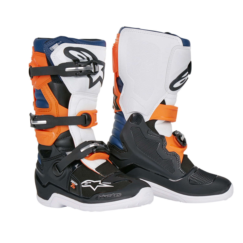 0c6b17739a6d6 Alpinestars Kids MX Boots Tech 7S Black Orange White 2019