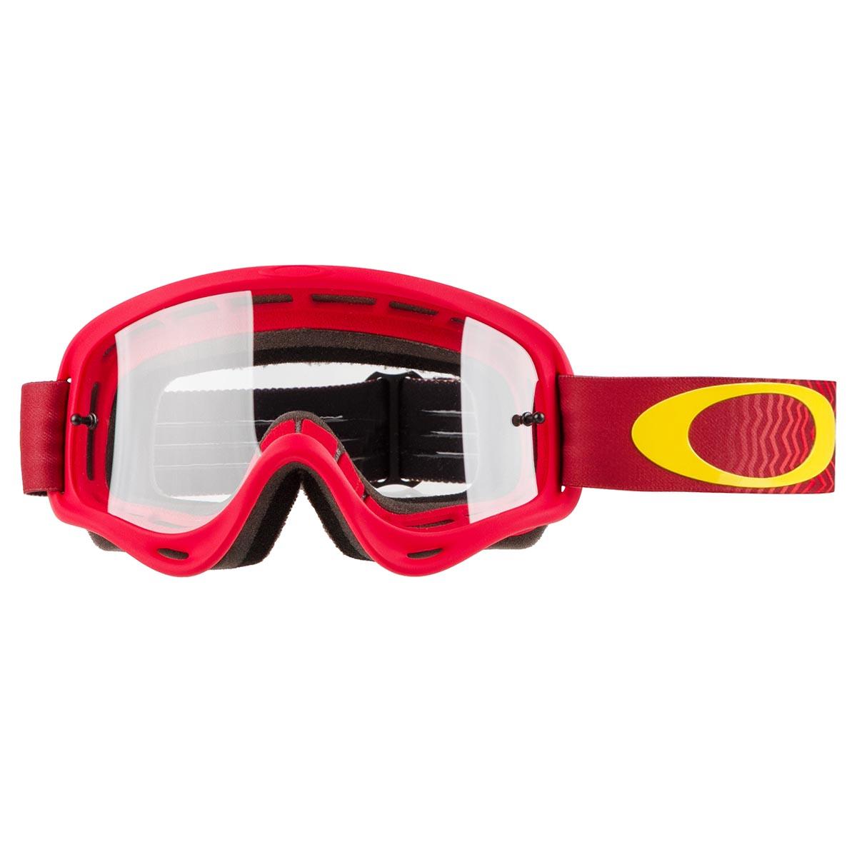 52f7a830f65 Oakley Kids Goggle XS O Frame Shockwave Red Yellow - Clear Anti-Fog ...