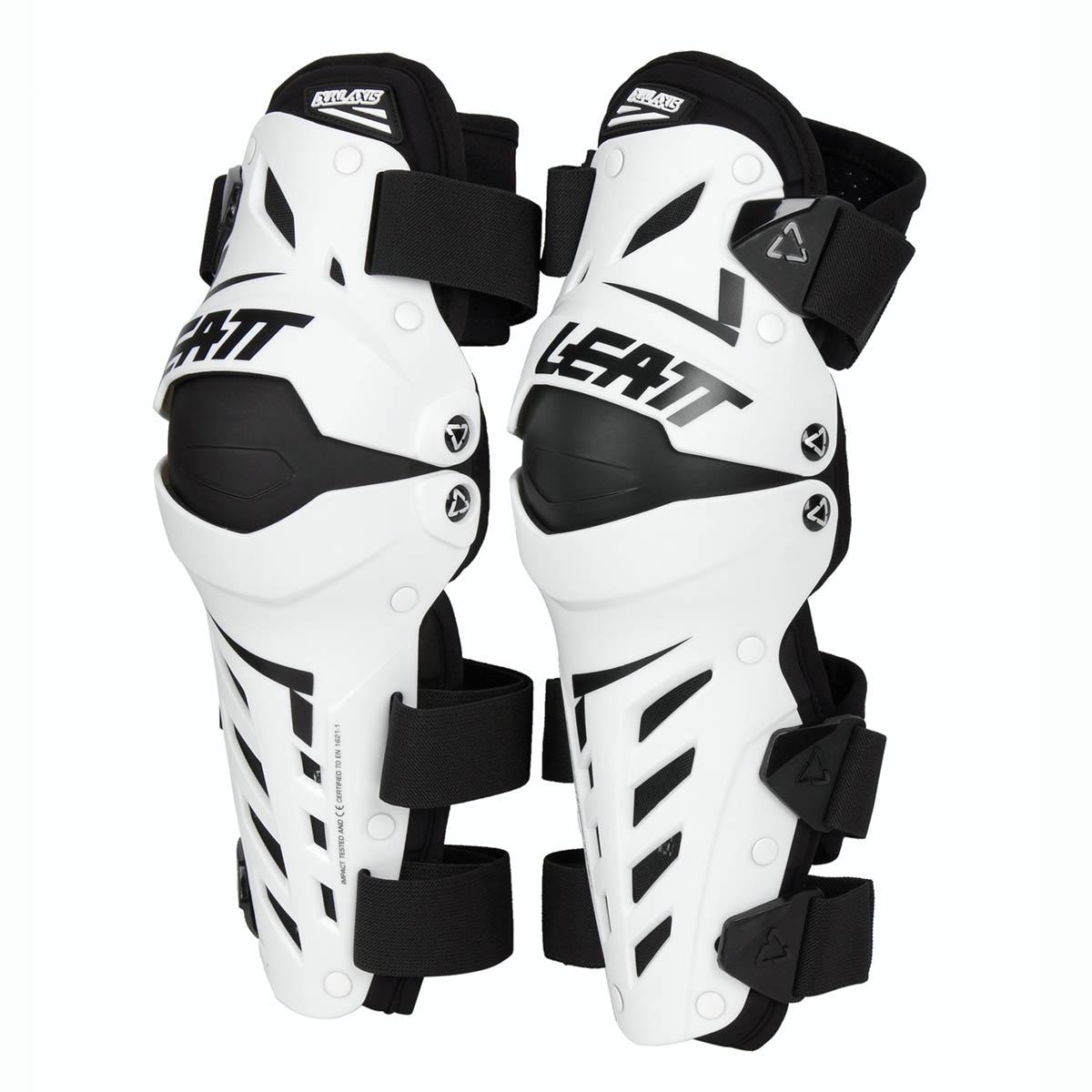 Leatt Knie-/Schienbeinschützer Dual Axis Weiß/Schwarz