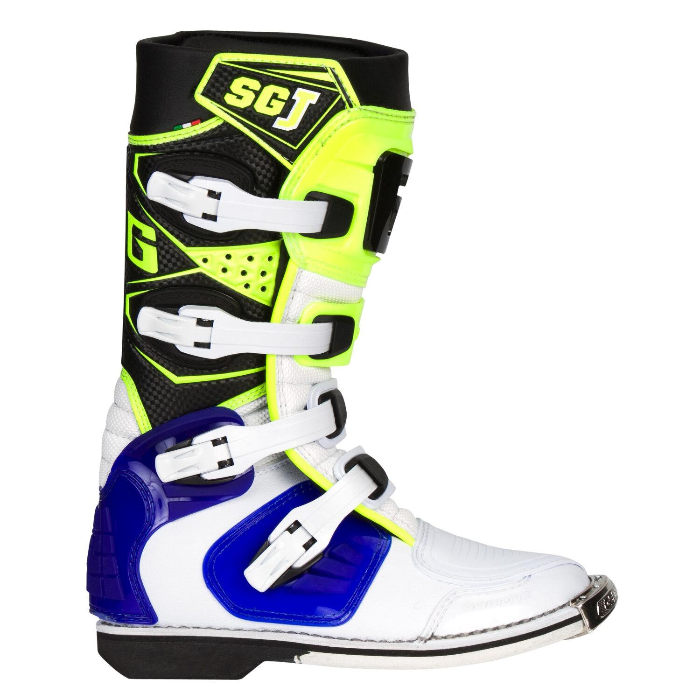 Gaerne Kids Mx Boots Sg J White Neon 2017 Maciag Offroad