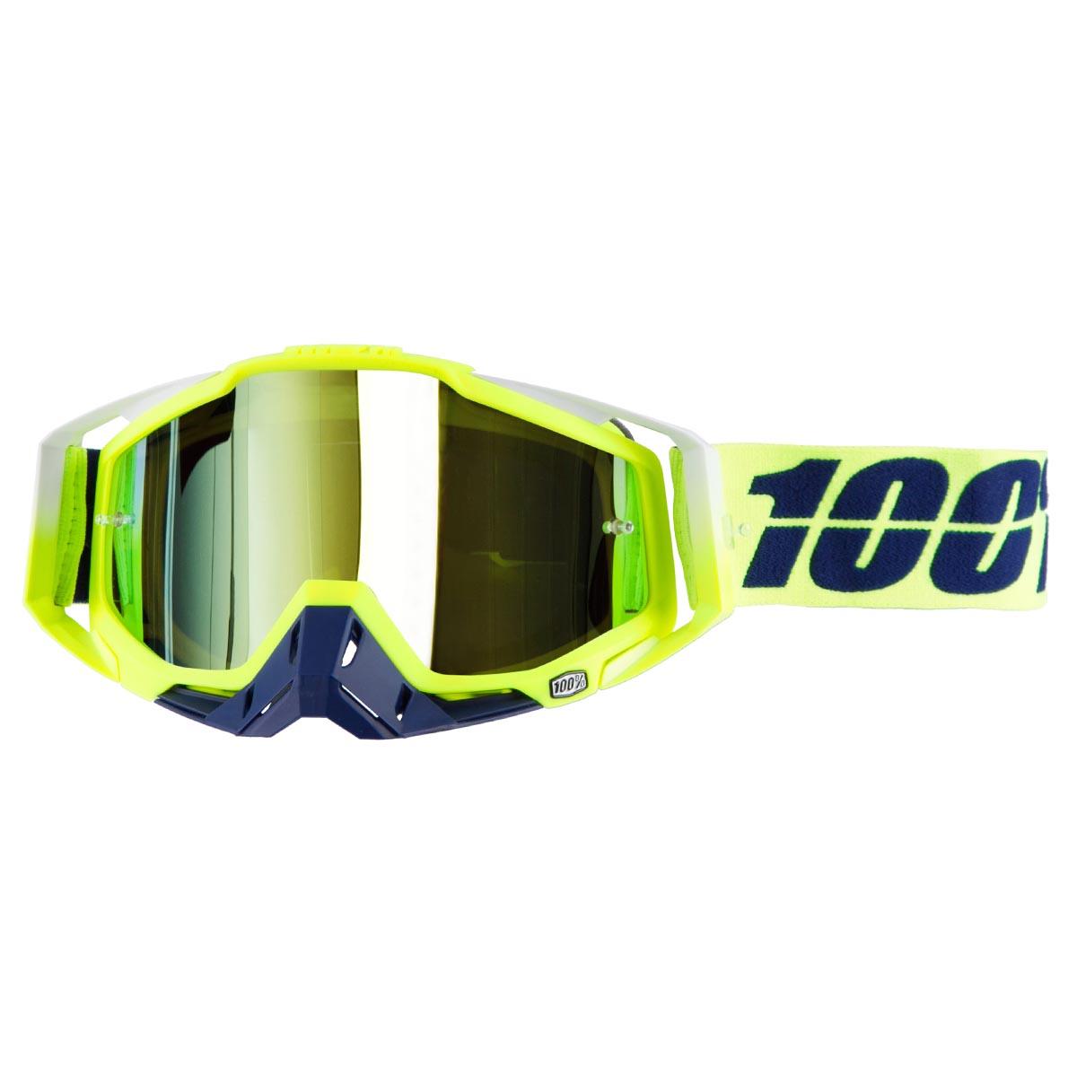 100% Crossbrille The Racecraft Tanaka - Gold verspiegelt Anti-Fog