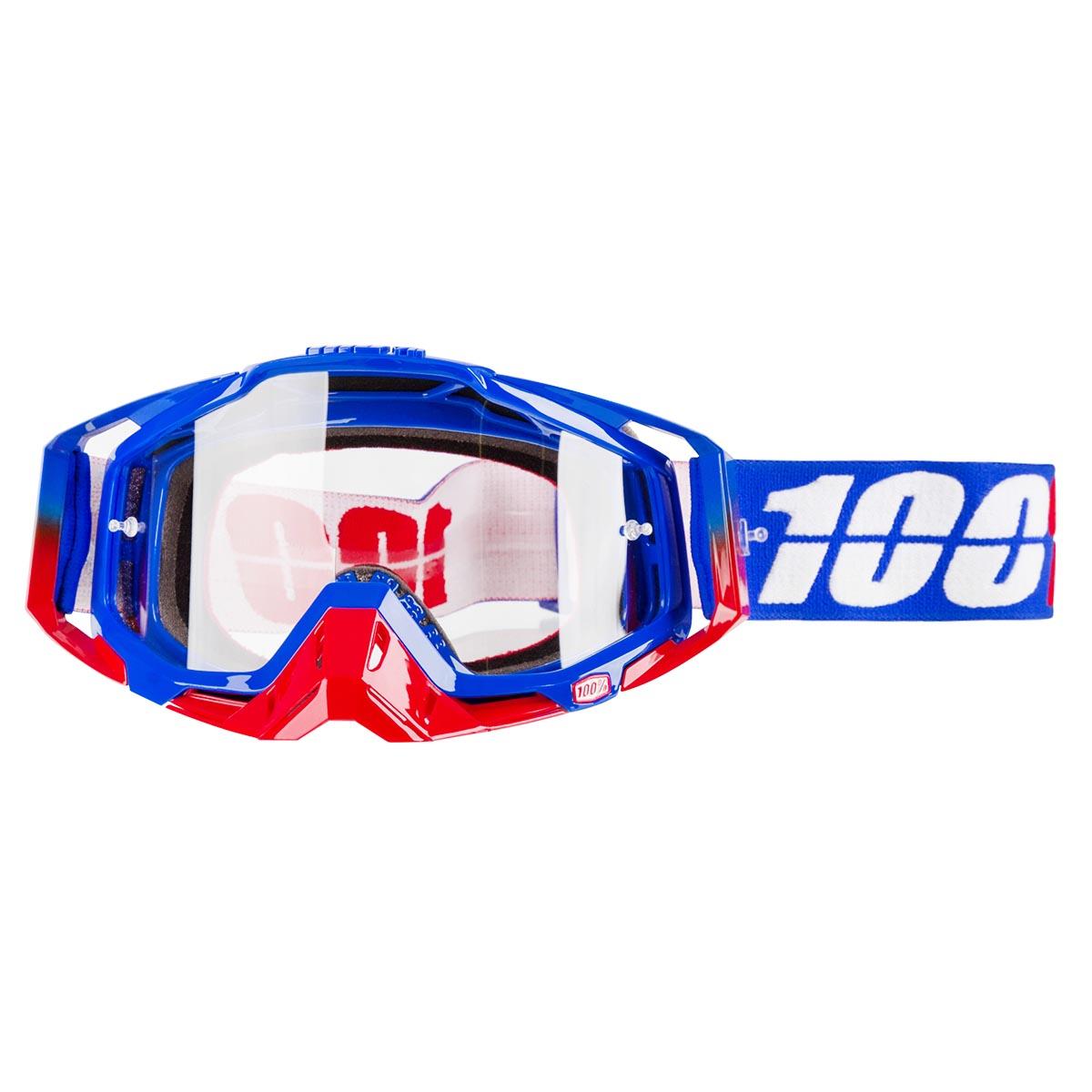 100% Crossbrille The Racecraft Republic - Klar Anti-Fog