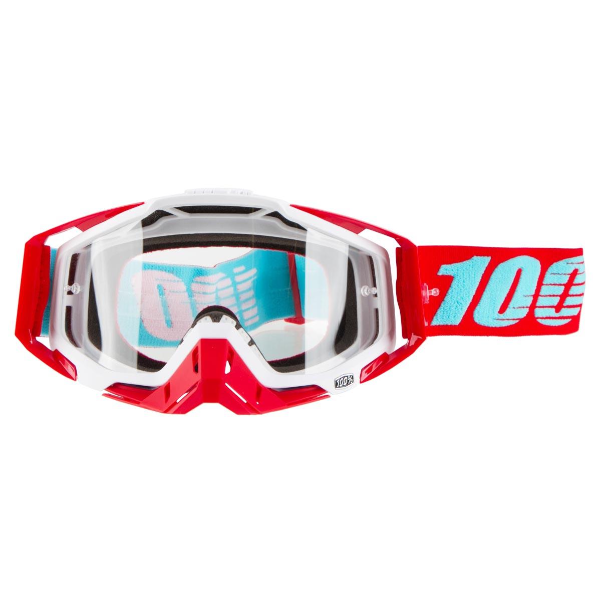 100% Crossbrille The Racecraft Kepler - Klar Anti-Fog