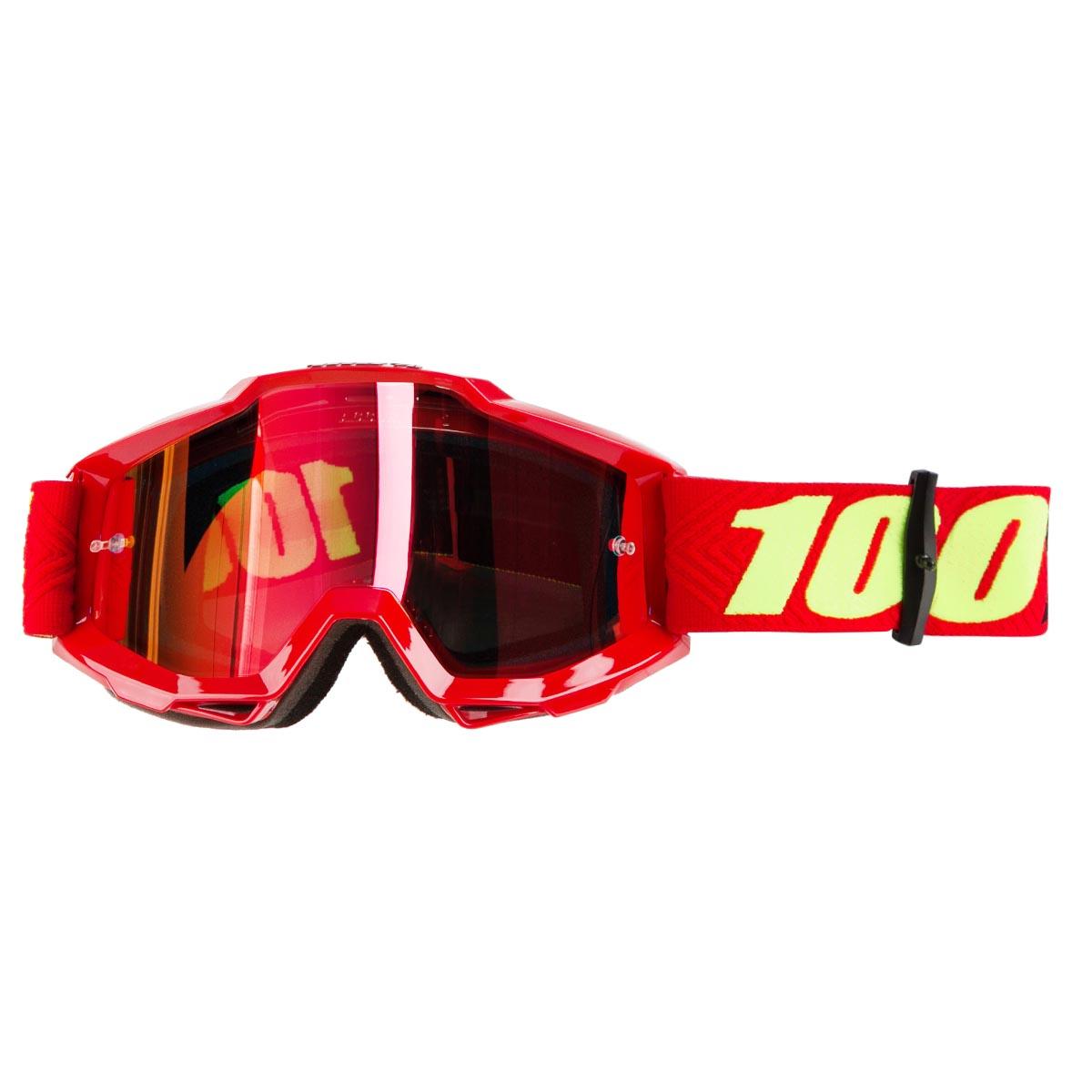 100% Crossbrille The Accuri Saarinen - Rot verspiegelt Anti-Fog