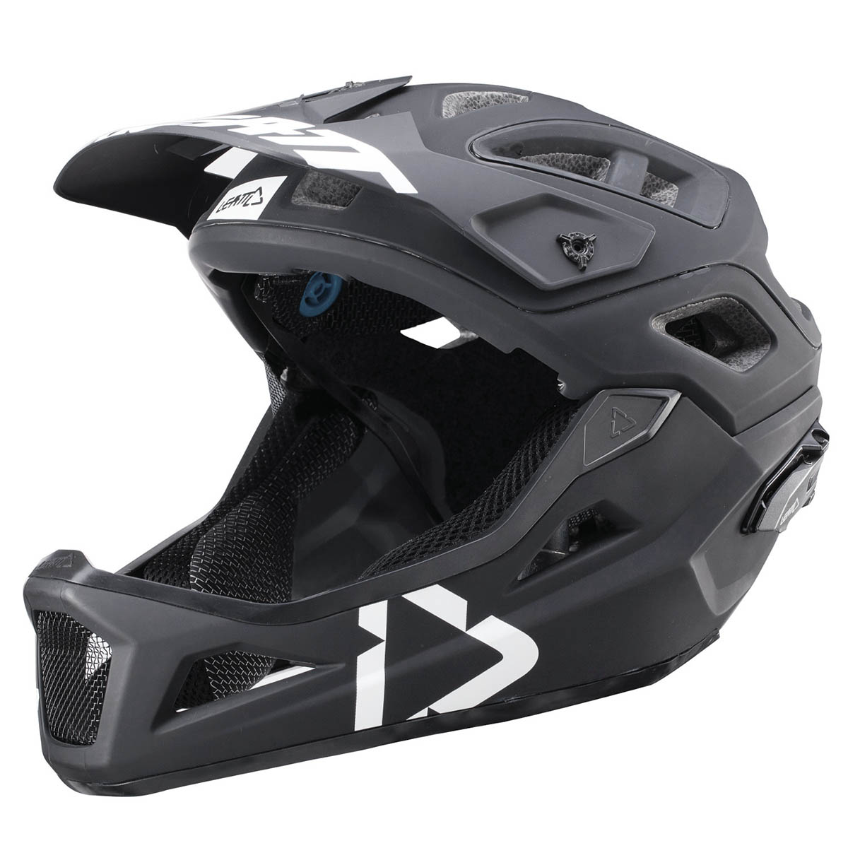 leatt enduro mtb helmet dbx 3 0 enduro black white 2019. Black Bedroom Furniture Sets. Home Design Ideas