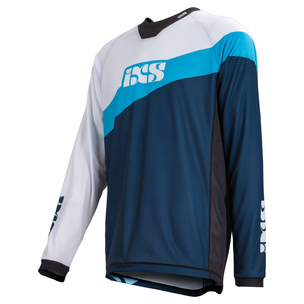 IXS Downhill-Jersey Race 7.1 Light Blau/Night Blau - Worldcup Worldcup - Edition 55ea75