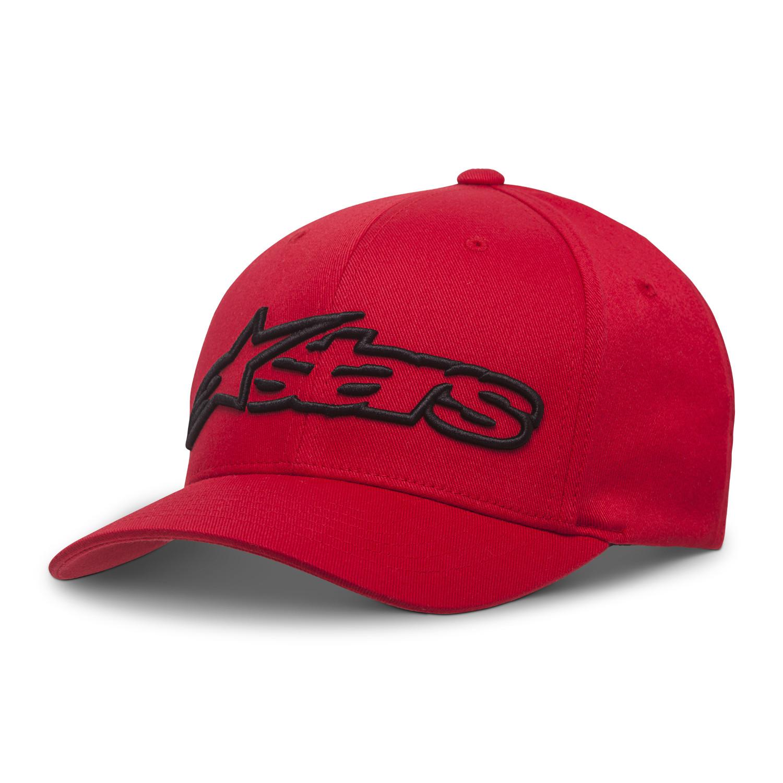 Alpinestars Blaze Flexfit Cap Red//Black Logo Baseball Hat