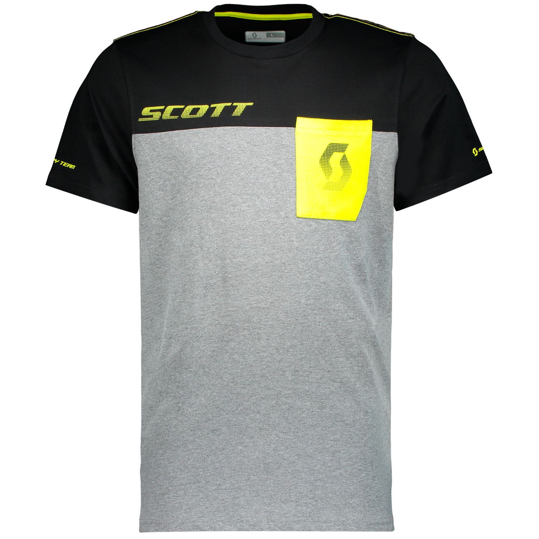Scott T-Shirt Factory Team CO Dunkelgrau meliert/Schwarz