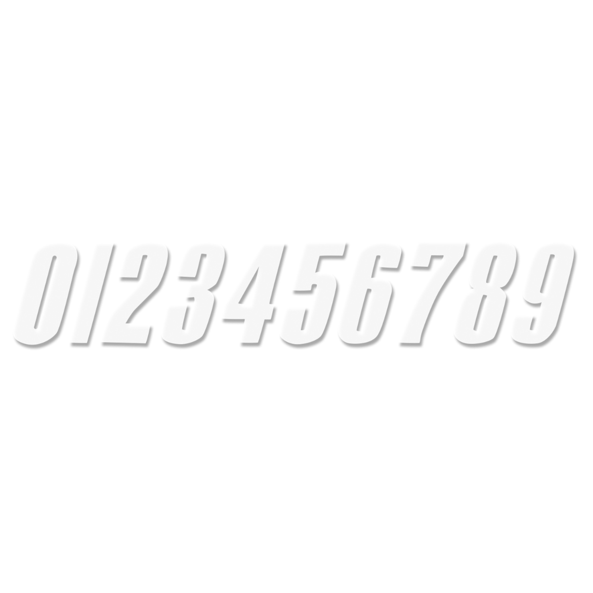 YCF Startnummer YCF Weiß, 3 Stück, 10,5 cm