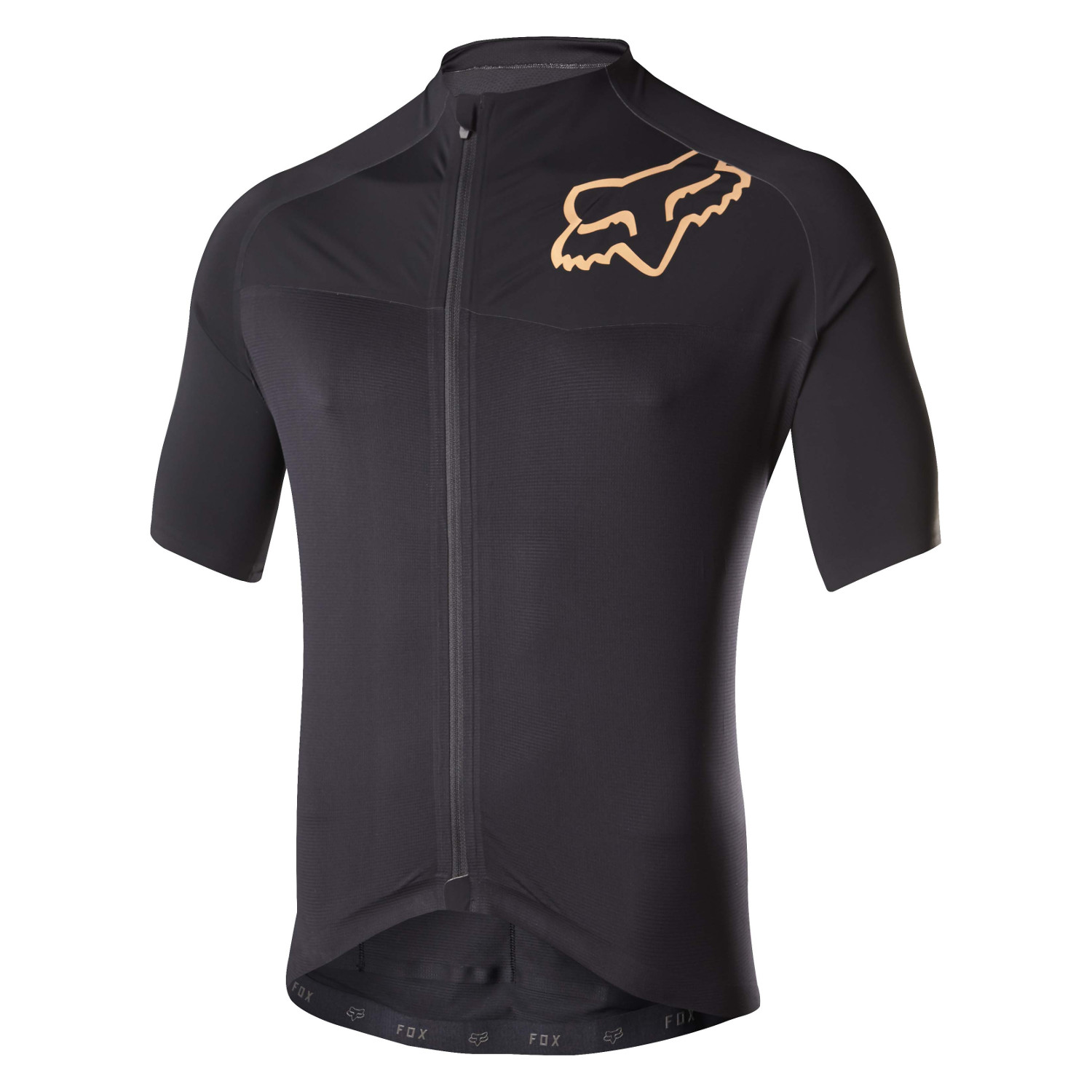 f0ab3a9ef Fox Full Zip Cross Country Jersey Short Sleeve Ascent Pro Black ...