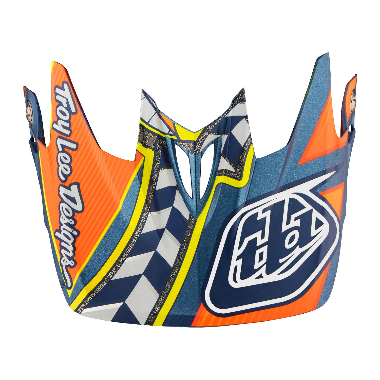 Helme & Protektoren Troy Lee Designs Helmschild D3 Longshot Orange