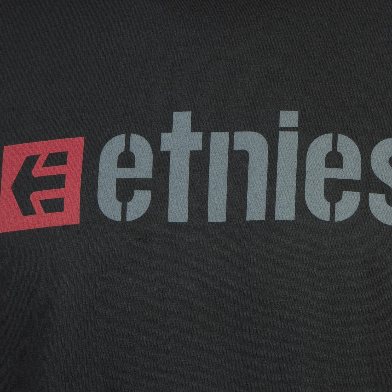 etnies t shirt box logo black red maciag offroad