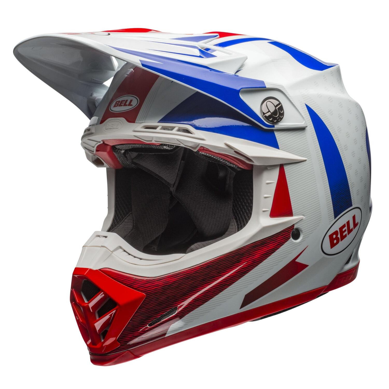 bell helmet moto 9 carbon flex vice blue red 2018 maciag offroad. Black Bedroom Furniture Sets. Home Design Ideas