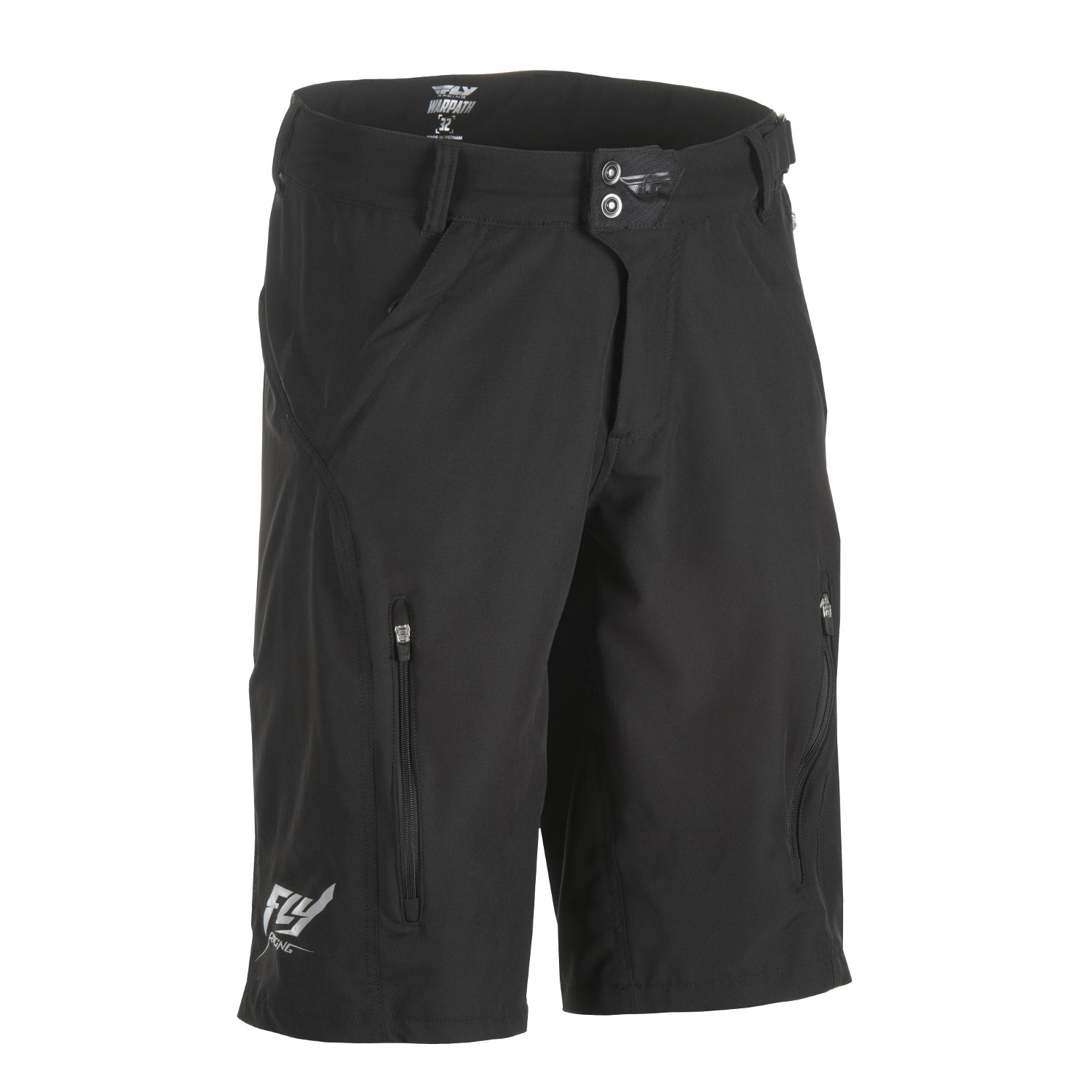 Fly Racing All All All Mountain-Short Warpath Schwarz 472e83