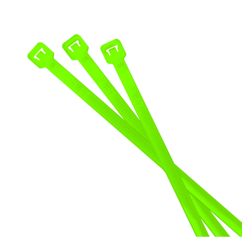 Riesel Design Kabelbinder Cabletie Neon Grün, 25 Stück