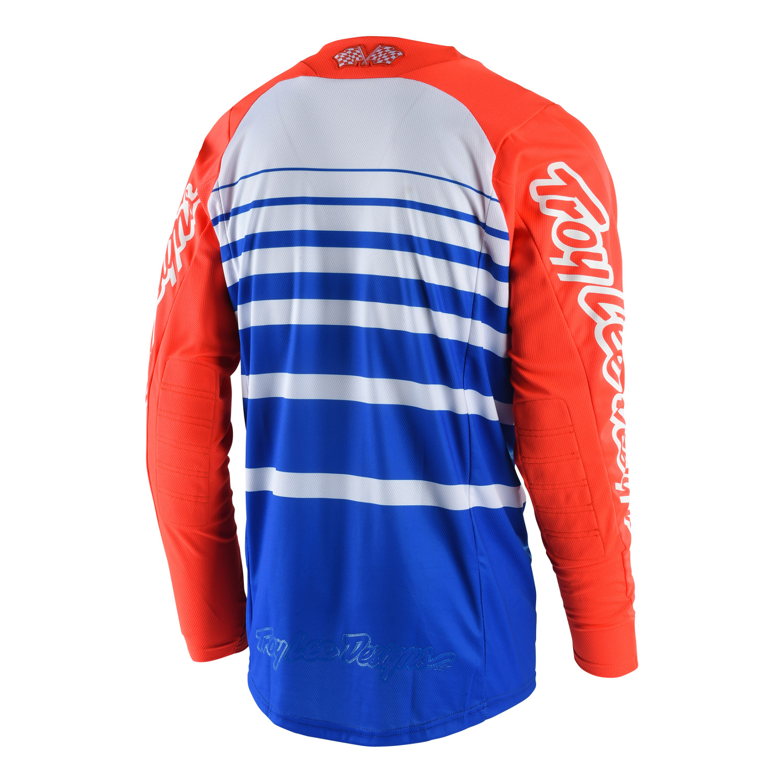 Large, Red//Navy Troy Lee Designs Mens Offroad Motocross Streamline SE Jersey