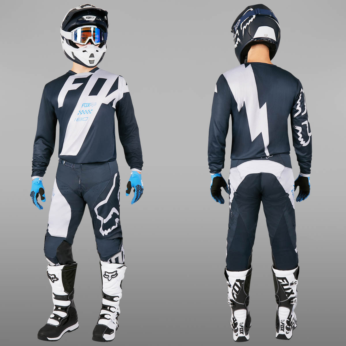 fox motocross enduro mx combo fox 180 mastar blue. Black Bedroom Furniture Sets. Home Design Ideas