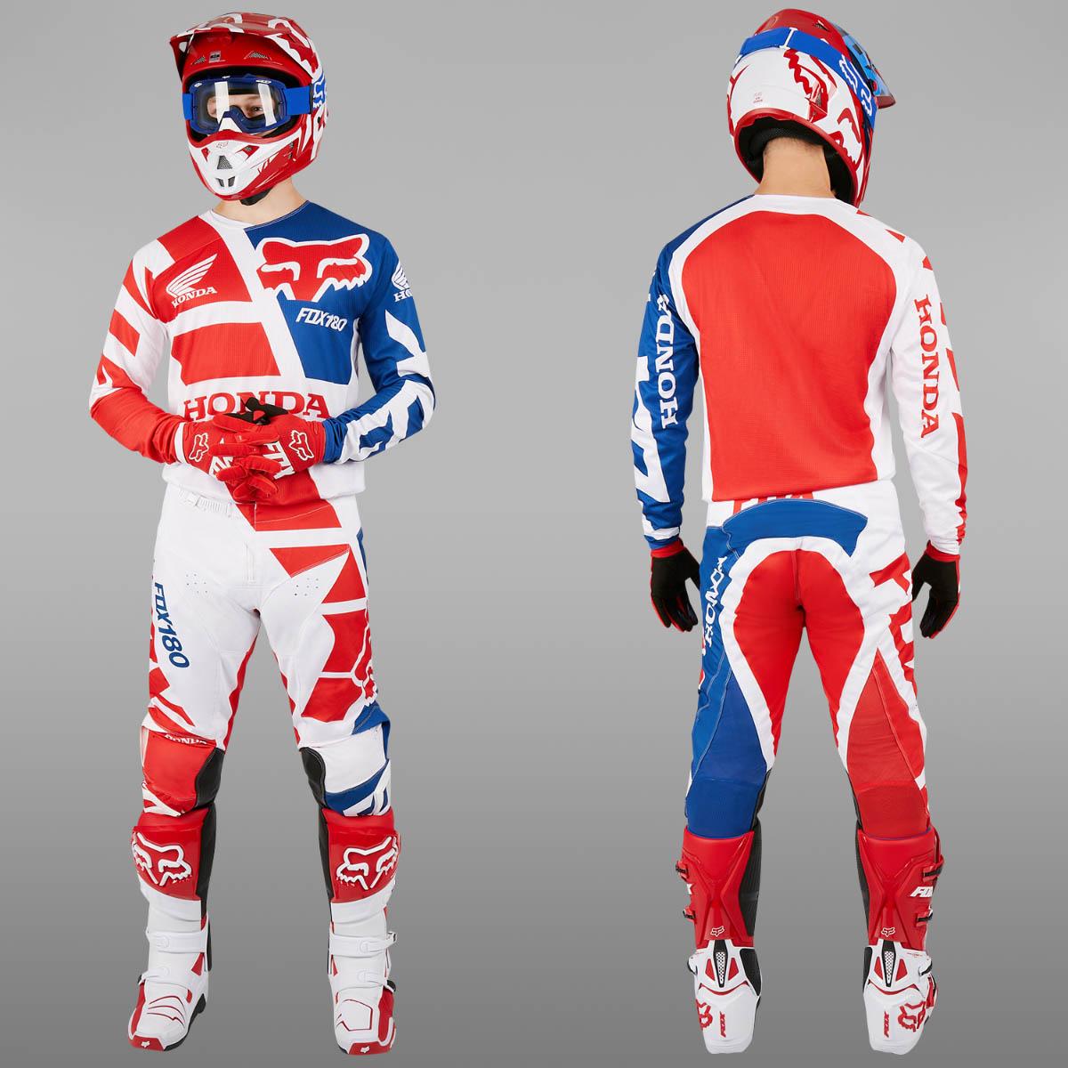 fox motocross enduro mx combo fox 180 honda red. Black Bedroom Furniture Sets. Home Design Ideas