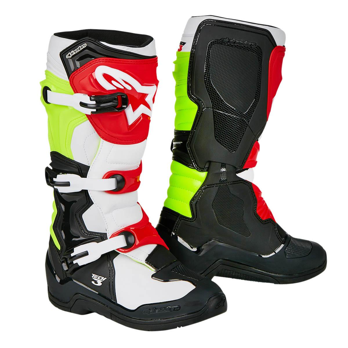 Alpinestars Motocross-Stiefel Tech 3 Schwarz/Weiß/Fluo Gelb