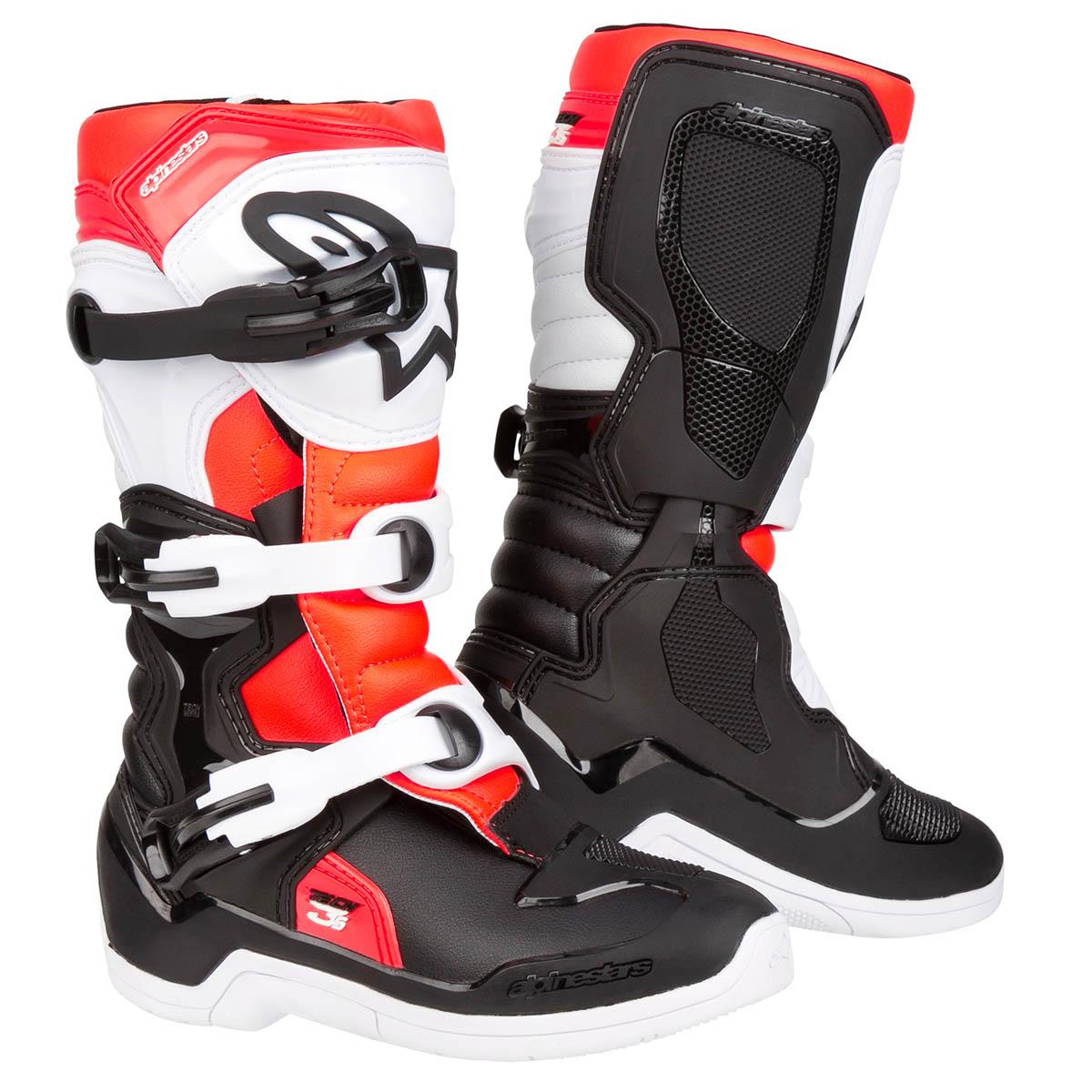 Alpinestars Kids Motocross-Stiefel Tech 3S Youth Schwarz//Wei/ß