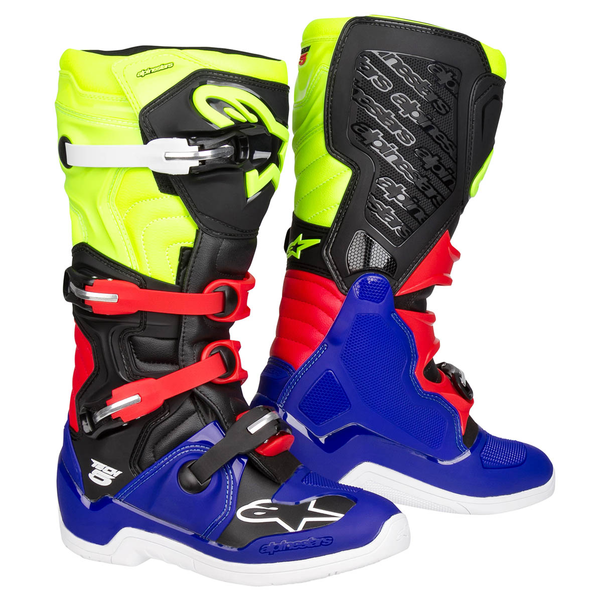 Alpinestars MX Boots Tech 5 BlueBlackYellow Fluo