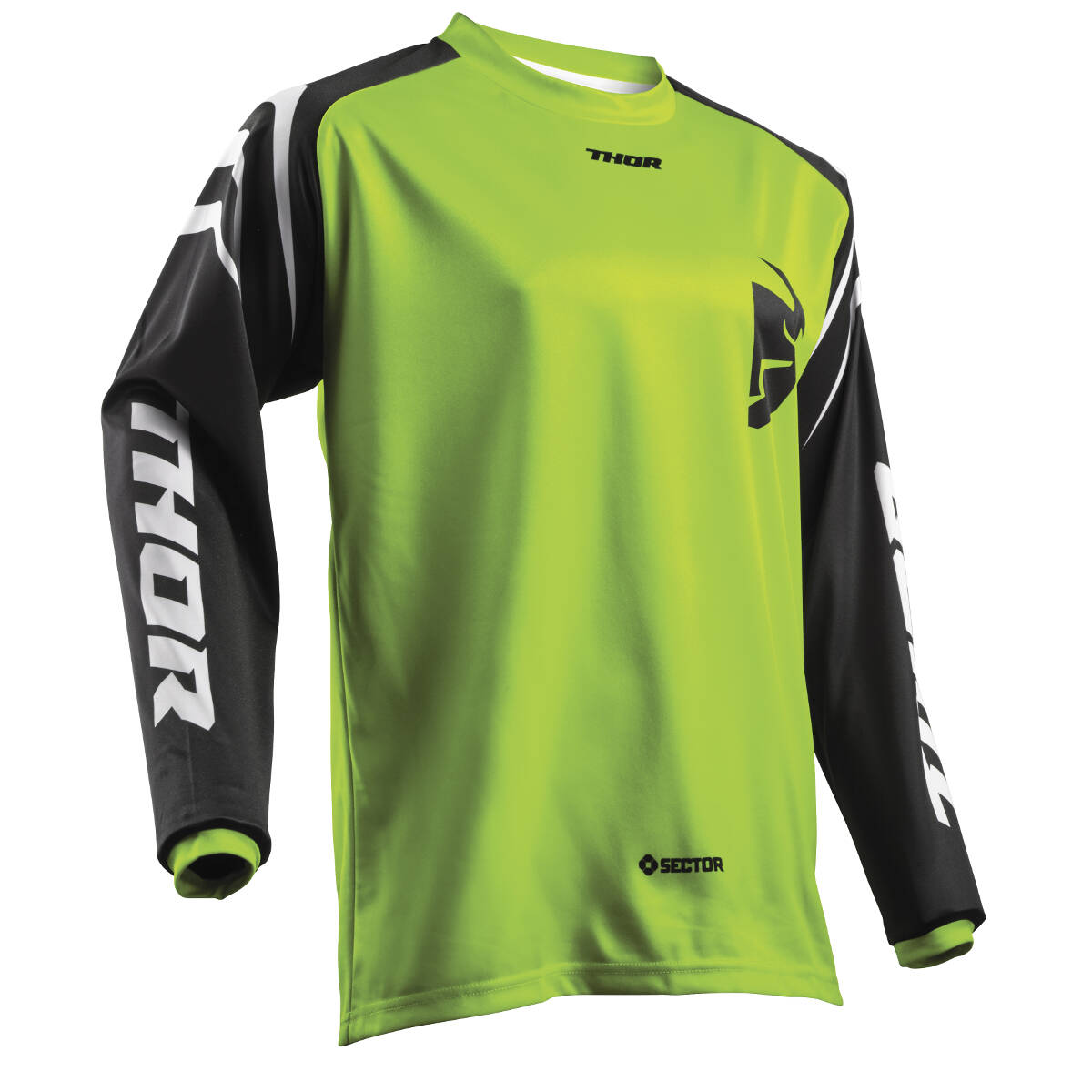 Thor Kids Jersey Sector Zones - Lime