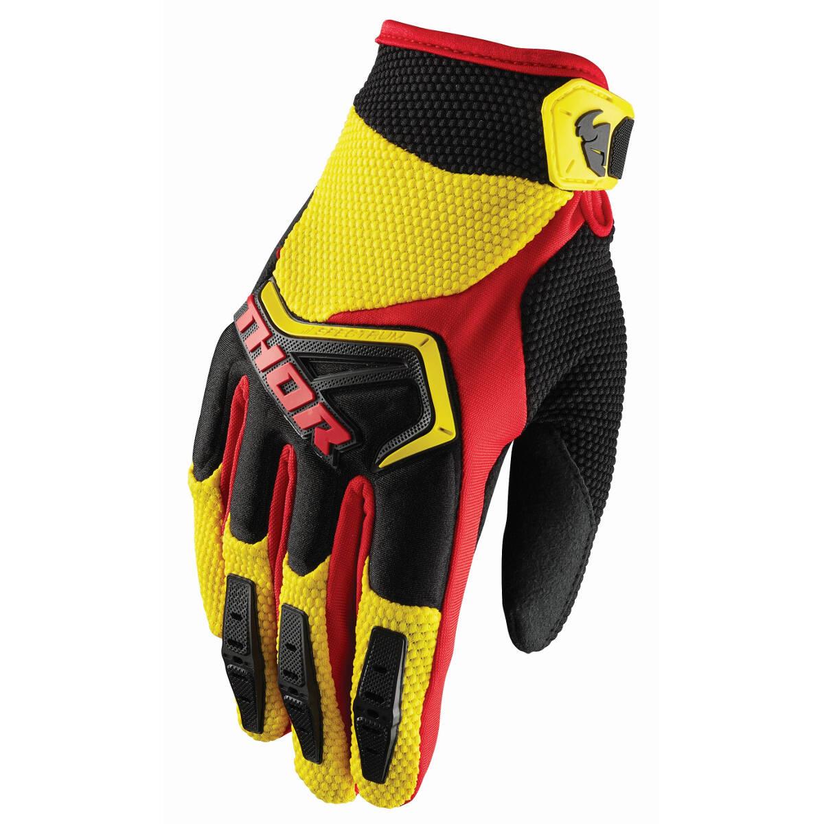 THOR Handschuh Spectrum gelb//schwarz//rot