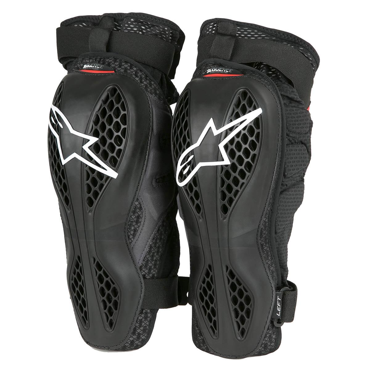 Protection//Guard Knee MX/ L//XL, Black /Pair Alpinestars Sequence Black-Red