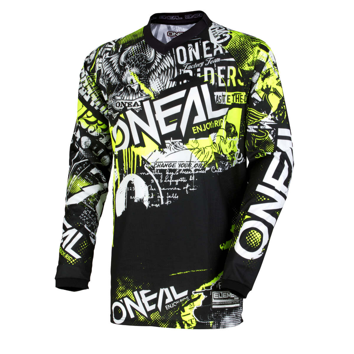 O'Neal Kids Jersey Element Attack - Schwarz/Hi-Viz Gelb