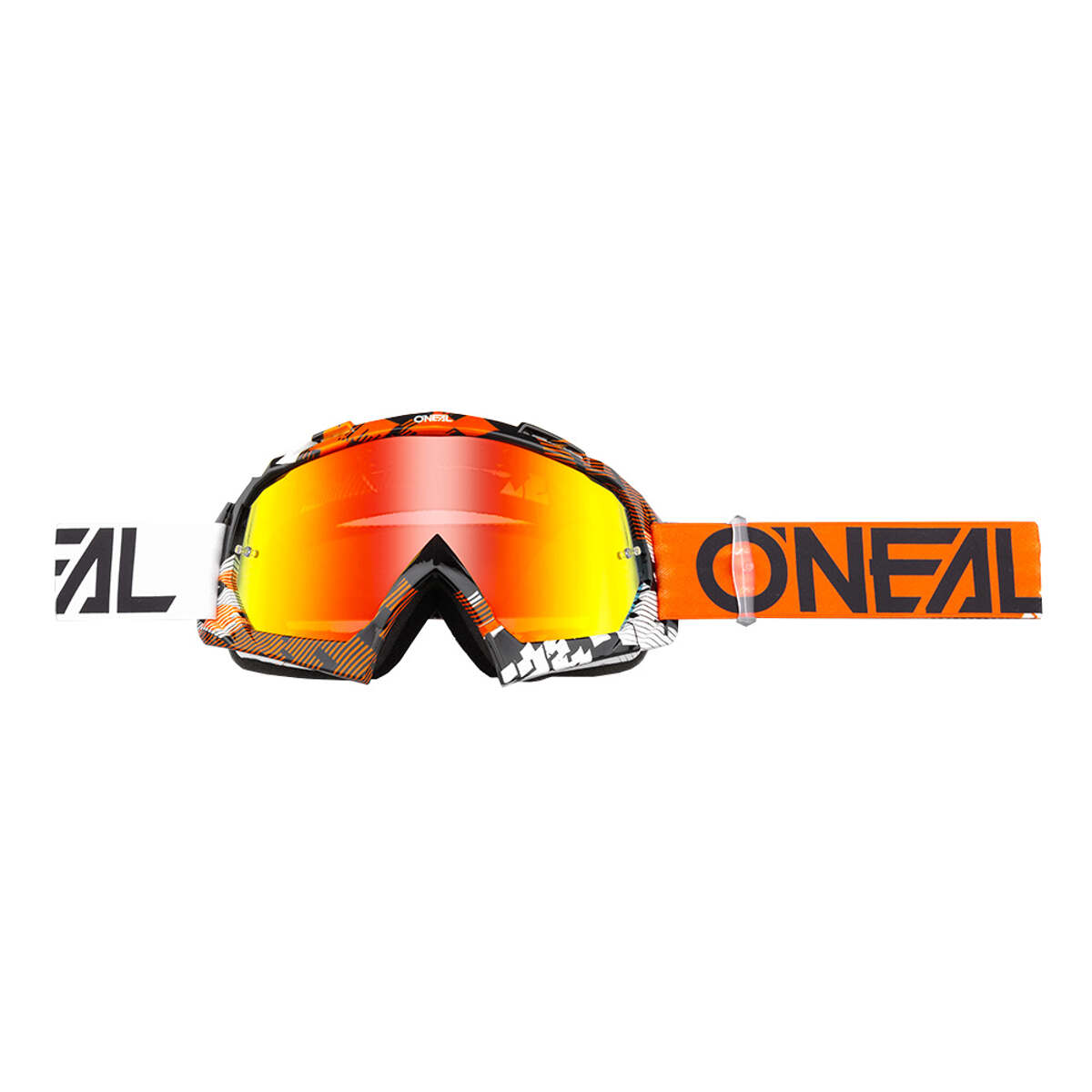 O'Neal Crossbrille B10 Pixel Orange/Weiß - Radium Anti-Fog