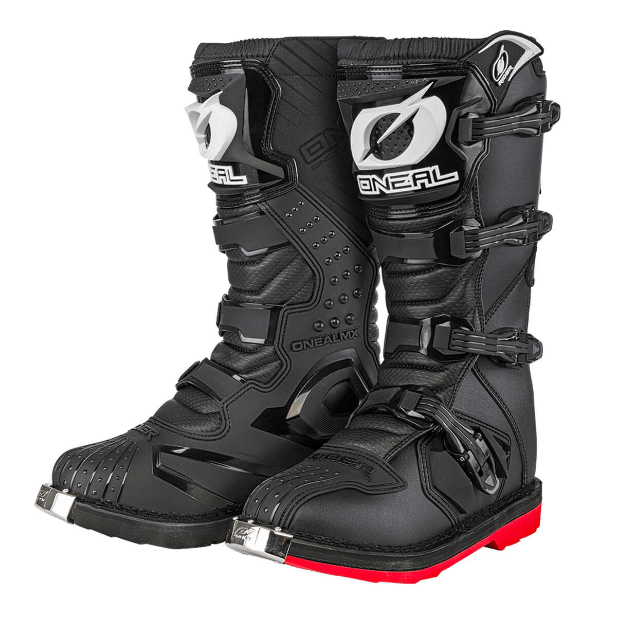 Boots /& Braces Motorcycle II Biker Stiefel Schwarz