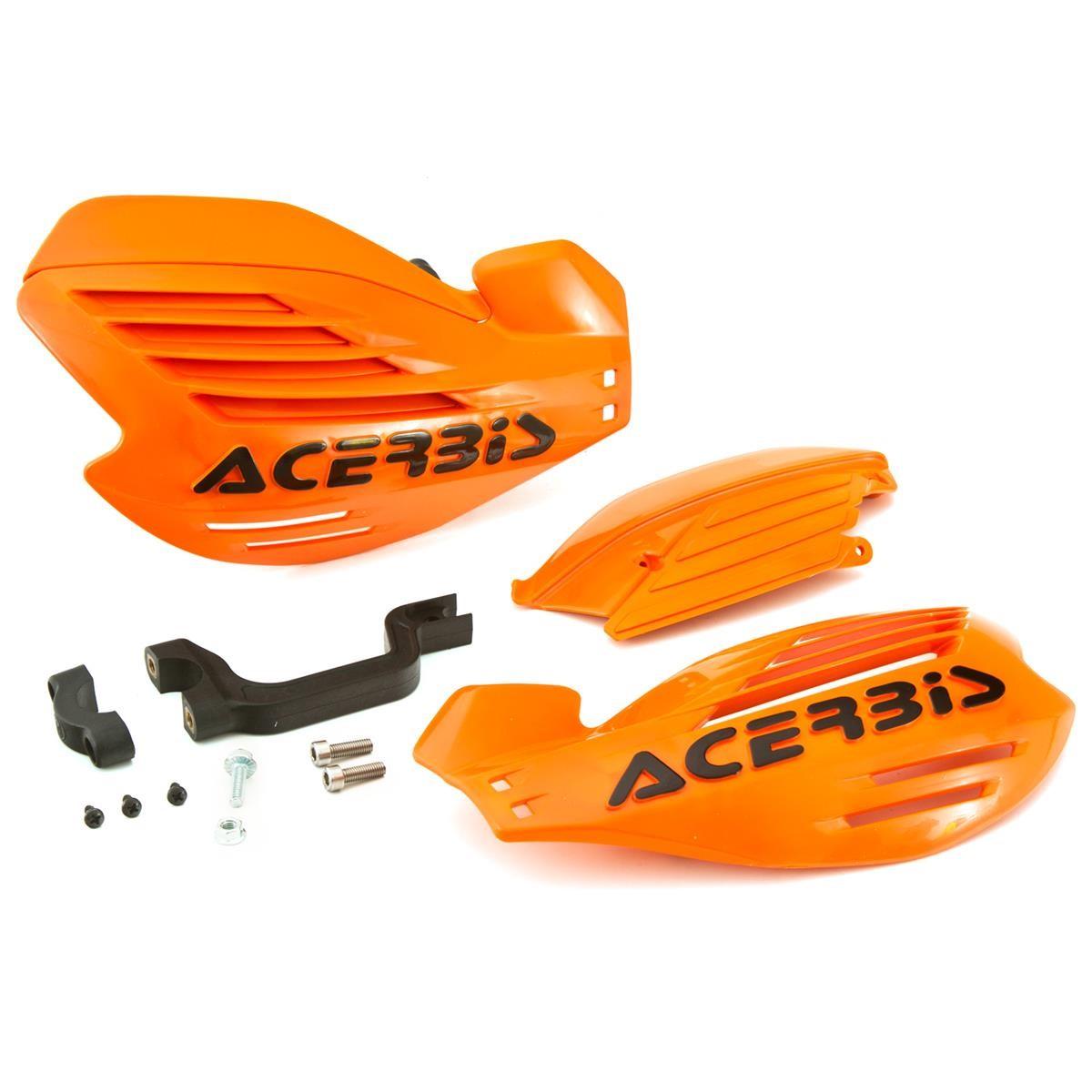 Acerbis Handschalen X-Force Orange, Inkl. Anbaukit