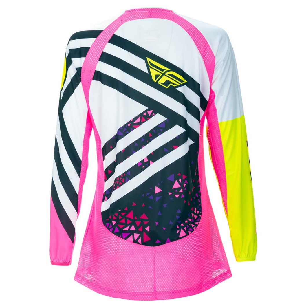 Neon Pink//Hi-Viz All Sizes Fly Racing Women/'s Kinetic Jersey