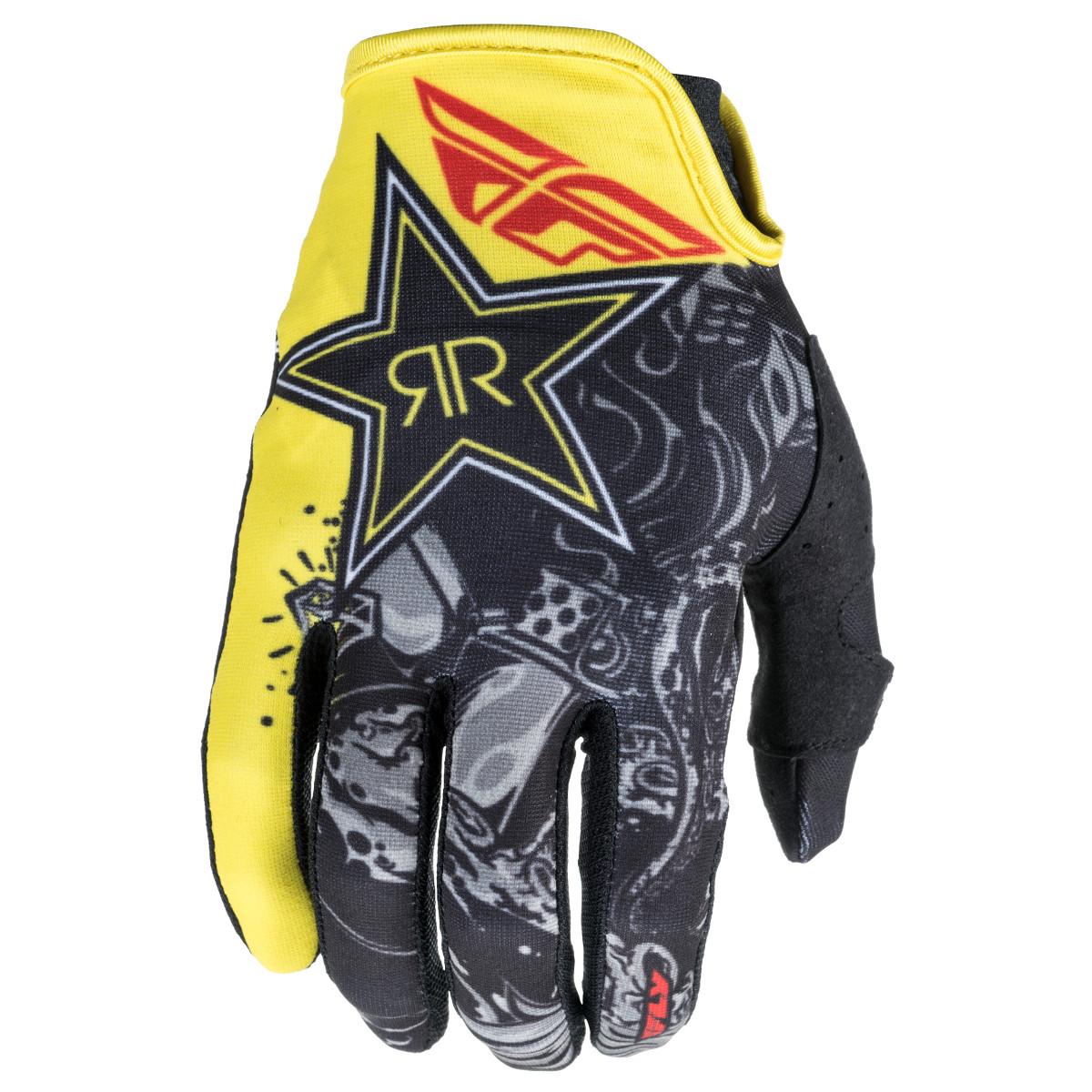 Fly Racing Handschuhe Lite Rockstar Schwarz/Gelb