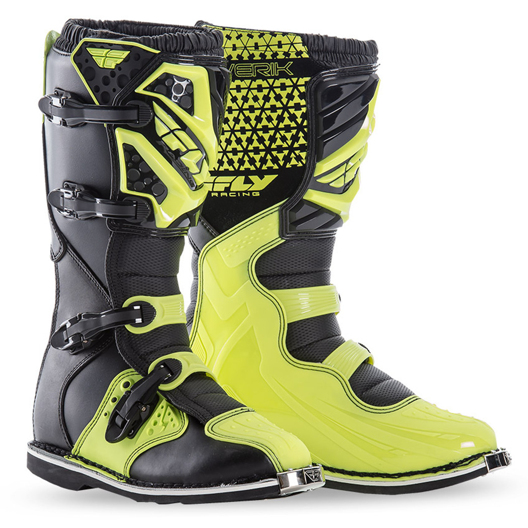 Fly Racing Motocross-Stiefel Maverik Neongelb