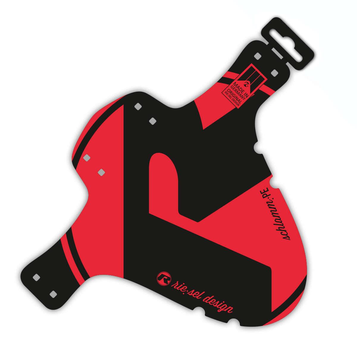 Riesel Design Schutzblech vorn SchlammPE Rot, 1 Stück