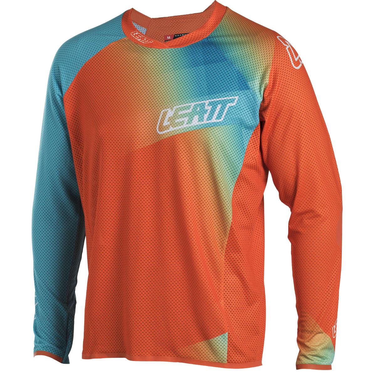 Leatt Downhill-Jersey DBX 4.0 Ultraweld Orange/Teal Orange/Teal Ultraweld c2a725