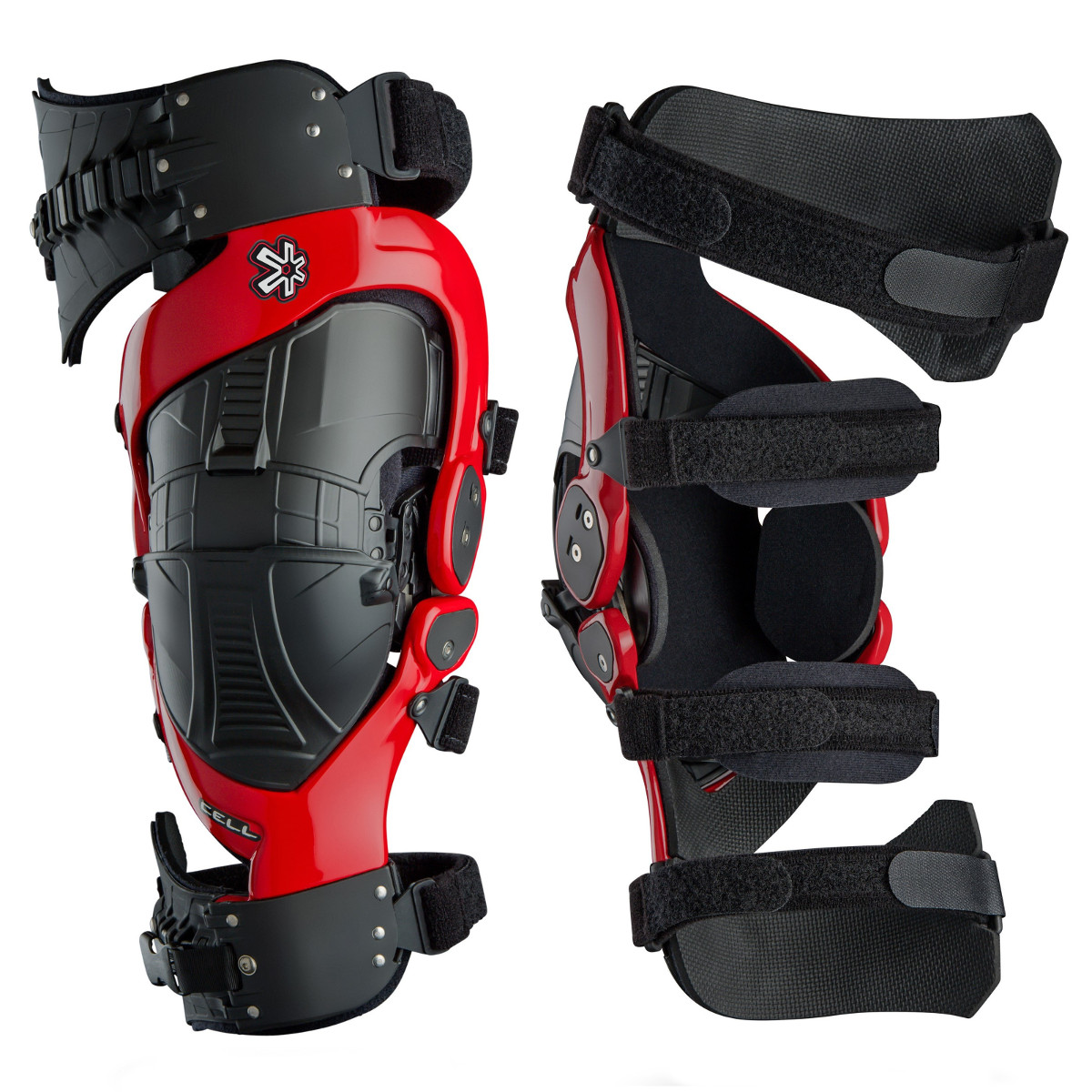 Mx Knee Braces >> Asterisk Knee Brace Cell Black Red Pair