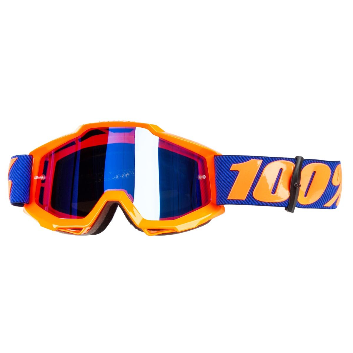 100% Crossbrille The Accuri Origami - Blau verspiegelt Anti-Fog