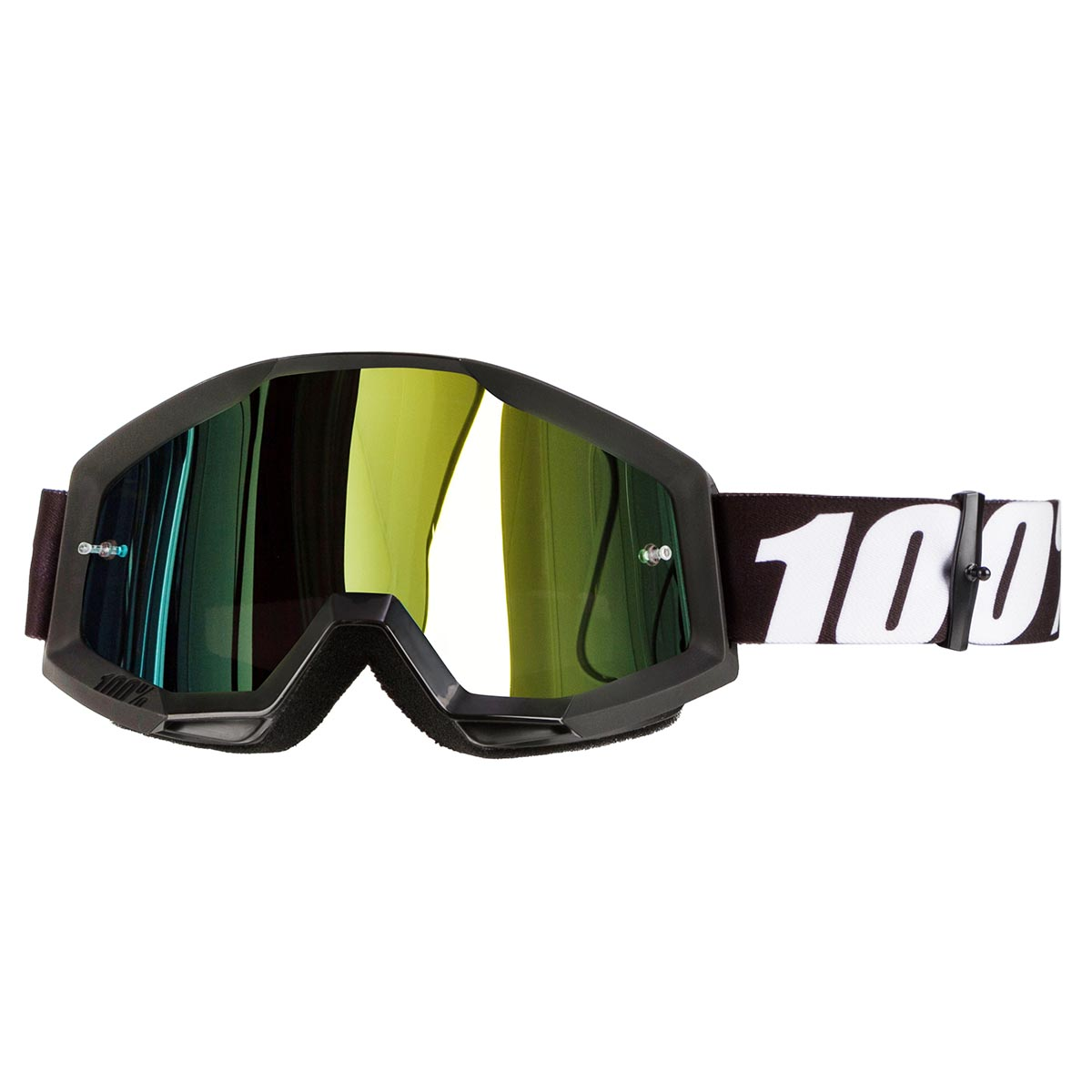 100% Crossbrille The Strata Outlaw - Gold verspiegelt Anti-Fog